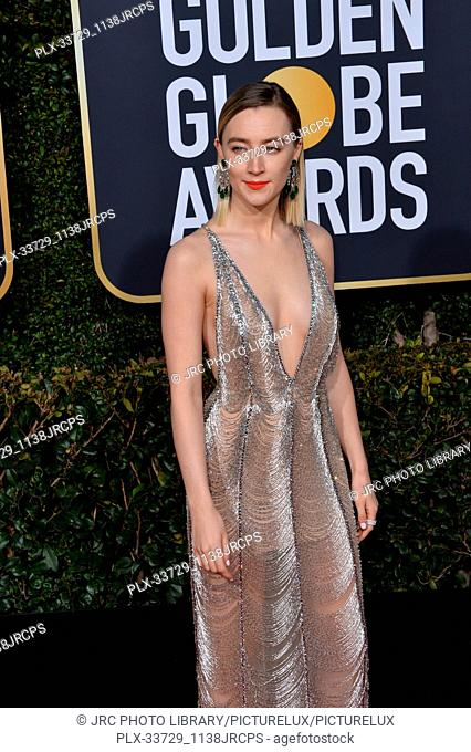 LOS ANGELES, CA. January 06, 2019: Saoirse Ronan at the 2019 Golden Globe Awards at the Beverly Hilton Hotel. © 2019 JRC Photo Library/PictureLux ALL RIGHTS...