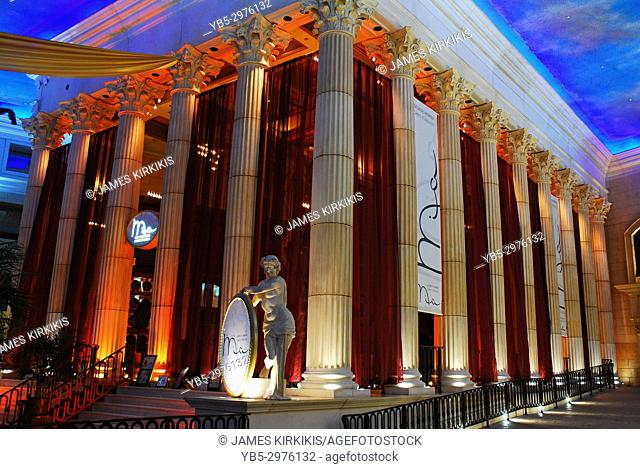 The Lobby of the Caesar's Casino in Atlantic City, New Jersey