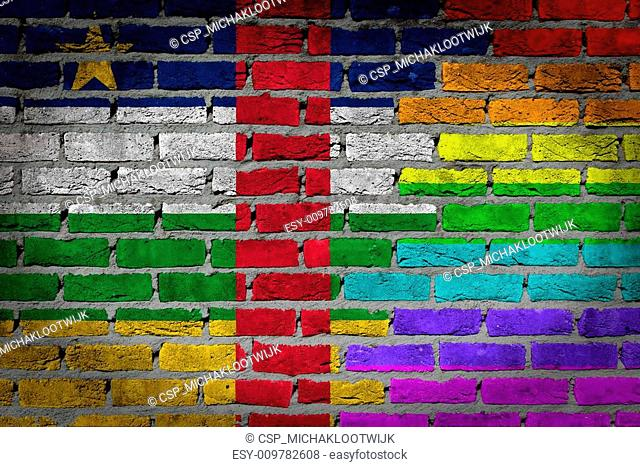 Dark brick wall - LGBT rights - Central African Republic