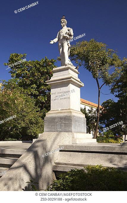 Monument dedicated to Jose Fernandez De Madrid at the historic center, Cartagena de Indias, Bolivar, Colombia, South America