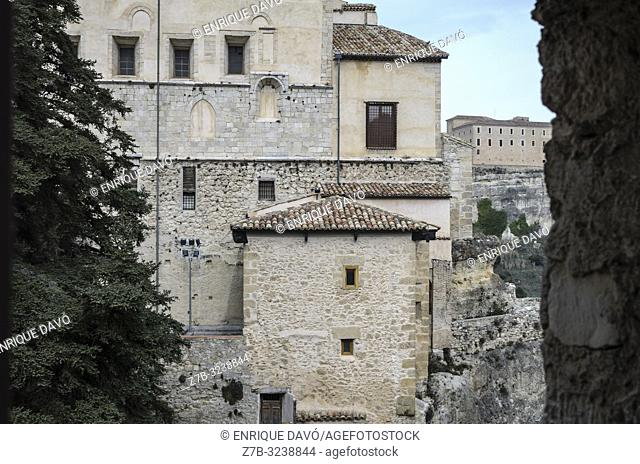 View of a rustic houses in Cuenca city