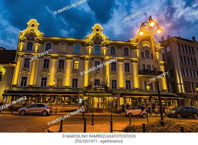 Radisson Blu Royal Astorija Hotel. Rotuses street, Town Hall Square. Vilnius, Vilnius County, Lithuania, Baltic states, Europe
