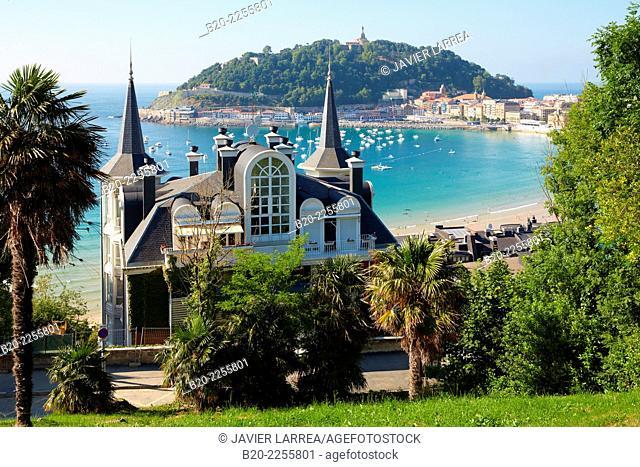 La Concha Bay. Donostia, San Sebastian. Gipuzkoa. Basque Country. Spain