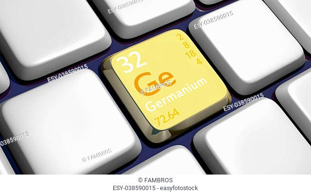 Keyboard (detail) with Germanium element - 3d made