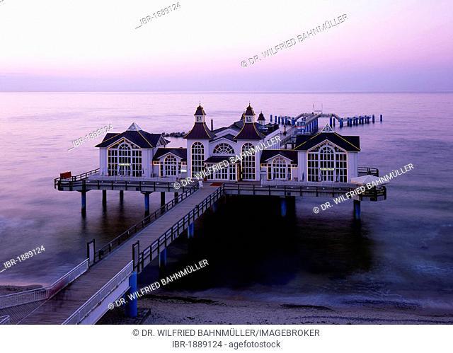 New pier, Sellin, Ruegen, Mecklenburg-Western Pomerania, Germany, Europe