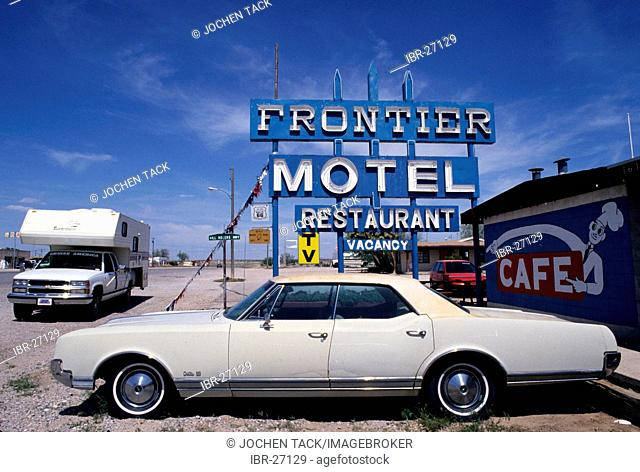 USA, United States of America, Arizona: Historical Route 66. Traveliing in a Motorhome, RV, through the west of the US