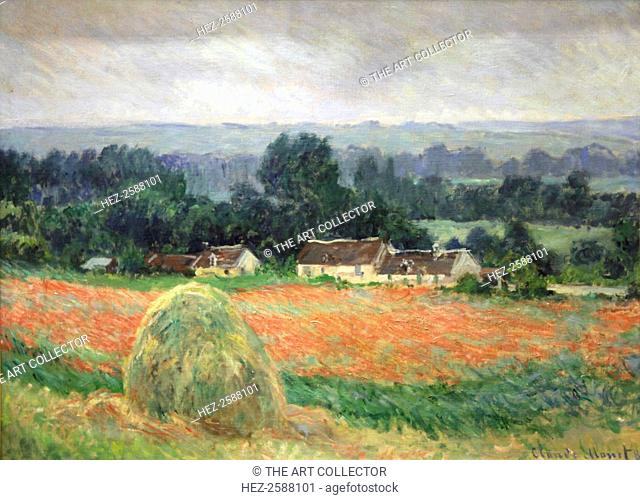 'Haystack at Giverny', 1886. Found in the collection of The Hermitage, St Petersburg