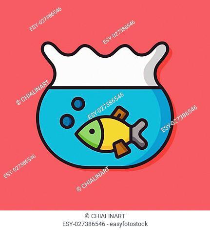 Goldfish bowl vector icon