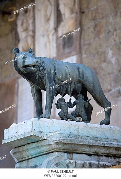 Italy, Rome, Romulus and Remus Statue
