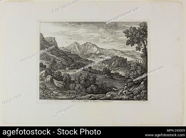 Castle of Saint Stephan of Mezzo and Canturano - 1810 - Joseph Anton Koch German, 1768-1839 - Artist: Joseph Anton Koch, Origin: Germany, Date: 1809–1810