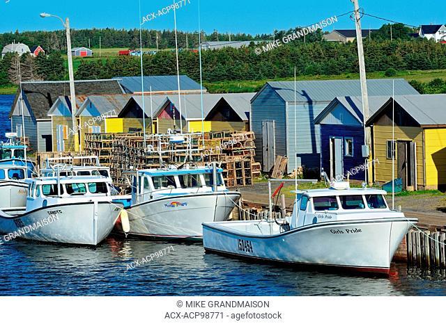 Fishing boats and shacks North Lake Prince Edward Island Canada