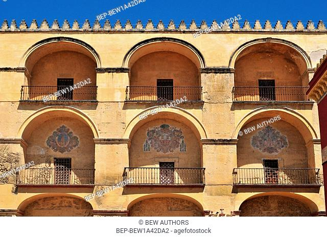 Cordoba part of mosque wall detail, Aandalucia, Spain