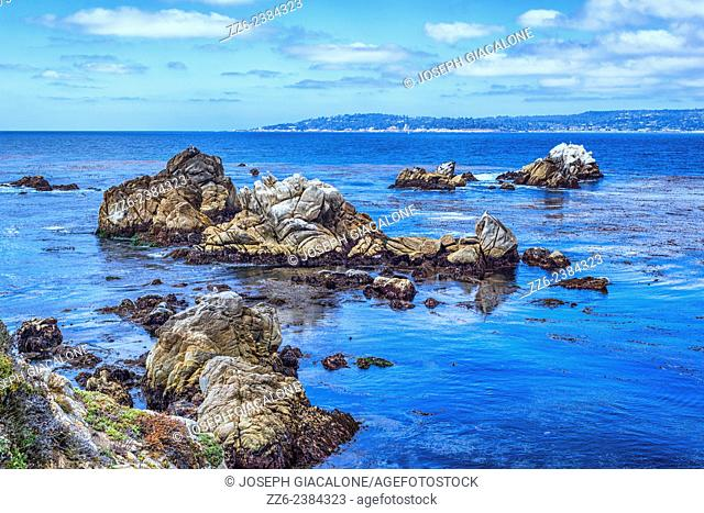 Rock formations in the ocean. Point Lobos State Reserve, California, United States