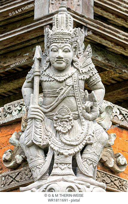 Pura Taman Ayun Temple, Sculptures of the Bale basement (Wood pavilion), Mengwi, Bali, Indonesia, Southeast Asia, Asia