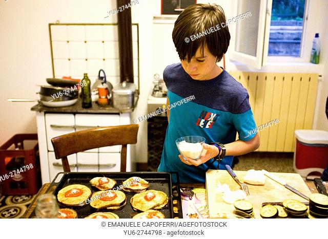 12 year old boy cooking