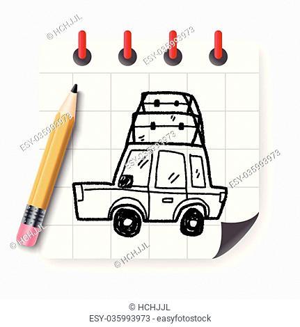 doodle travel car