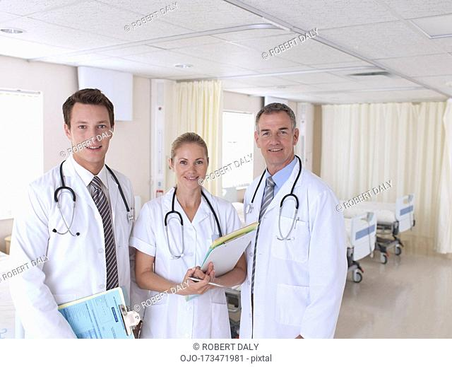 Portrait of doctors in hospital