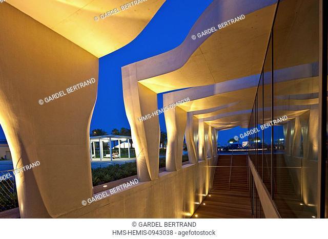 France, Alpes Maritimes, Menton, Jean Cocteau Museum built in 2008 by architect Rudy Ricciotti