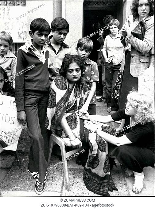Aug. 08, 1979 - Reprieve for the three Indian Brothers: Home office Minister Timothy Raison as deferred the deportation for three days of the three sons of Mrs