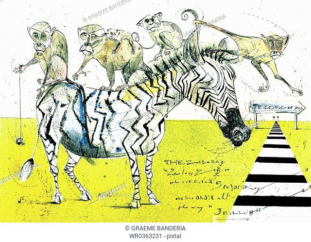 Collage Zebra