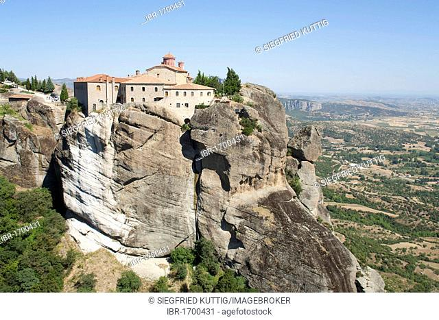 Convent Agios Stefanos at the Meteora Rocks, Thessaly, Greece, Europe
