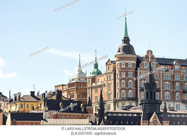 Old buildings in central Stockholm, Sweden