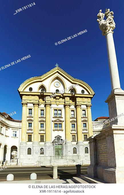 Ursuline Church of Holy Trinity, Ljubljana, Slovenia