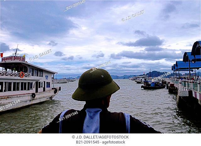 Vietnam. Ha Long also known as Hong Gai, Hon Gai and Hongay, is the capital city of Quang Ninh province, Vietnam. The city mainly lies on Ha Long Bay
