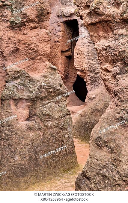 The rock-hewn churches of Lalibela in Ethiopia  Connecting tunnel between the churches of the south eastern cluster  The churches of Lalibela have been...