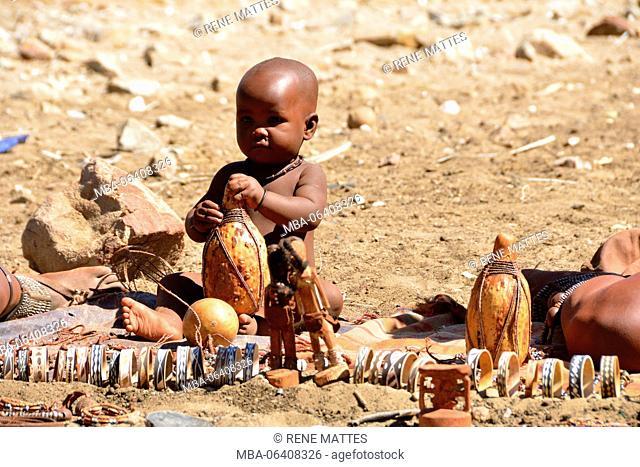 Namibia, Kaokoland or Kaokoveld, Himba village