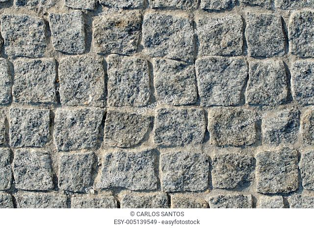 Cobbled pavement