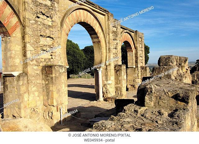 Ruins of Medina Azahara, palace built by caliph Abd al-Rahman III. Córdoba province, Andalusia, Spain