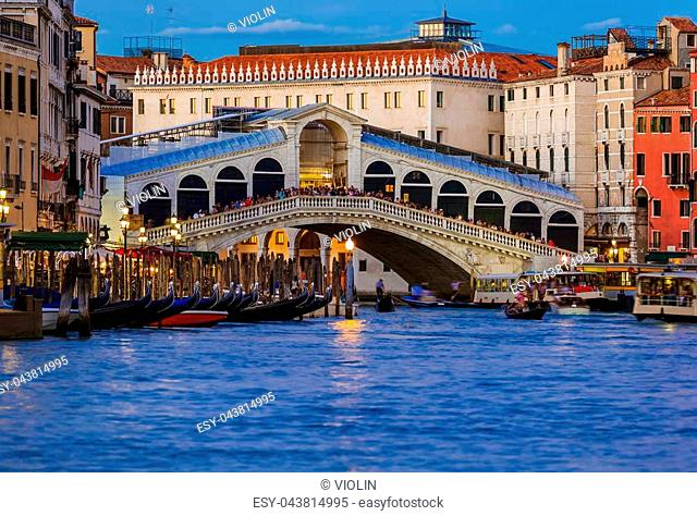 Rialto bridge in Venice Italy - architecture background
