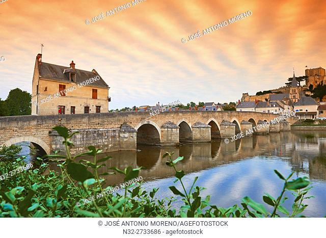 Montrichard, Cher River, Castle, Loire et Cher, Pays de la Loire, Loire Valley, UNESCO World Heritage Site, France