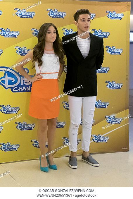 'Soy Luna' photocall at Hesperia Hotel Featuring: Karol Sevilla, Ruggero Pasquarelli Where: Madrid, Spain When: 17 Mar 2016 Credit: Oscar Gonzalez/WENN