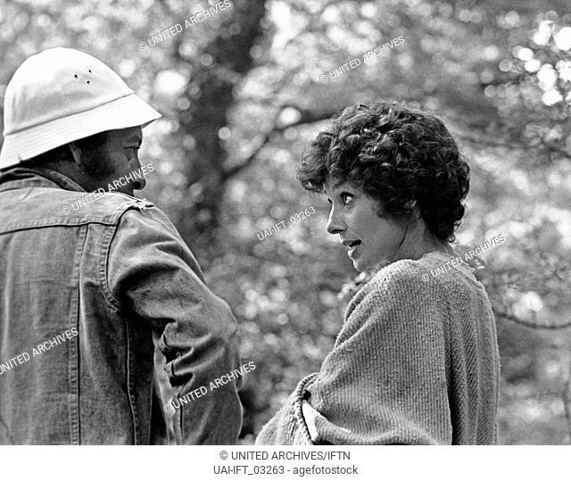 Robin and Marian, USA 1976, aka: Robin und Marian, Regie: Richard Lester und Darstellerin Audrey Hepburn bei den Dreharbeiten
