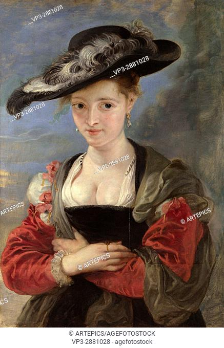 "Peter Paul Rubens. Portrait of Susanna Lunden aka """" The Straw Hat """". 1625. The National Gallery - London"