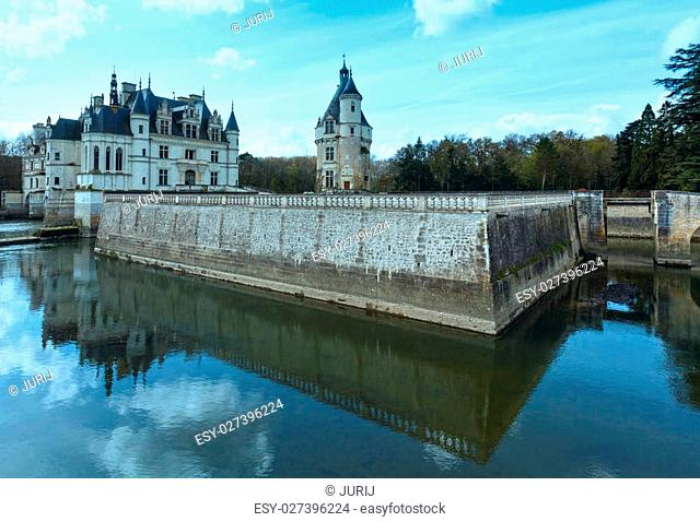 Castle Chenonceau on the River Cher (near village Chenonceaux, France). Built in 1514-1522