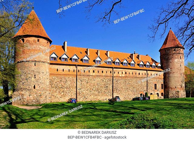 Castle of the Teutonic Order and West Kashubia Museum in town Bytow, Pomeranian Voivodeship, Poland. The Gothic castle of Bytow is the most important attraction...