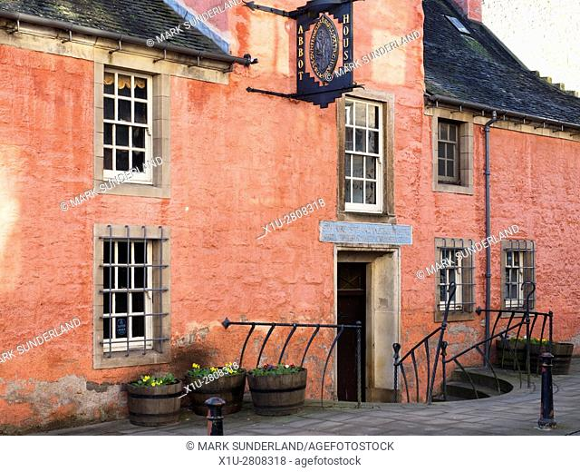 Entrance to the Abbot House on Maygate Dunfermline Fife Scotland