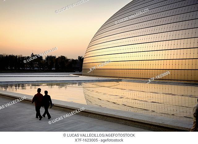 National Opera House building Paul Andreu architect,Beijing, China