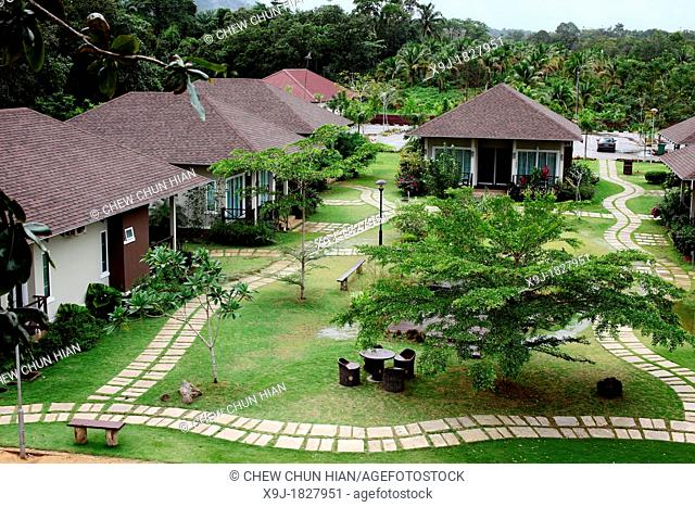 Chalets at Sia Beach Resort, Lundu, Sarawak, Malaysia