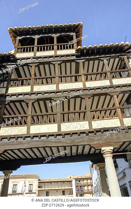 Gallery of Mayor Square Tembleque Toledo La Mancha, Spain