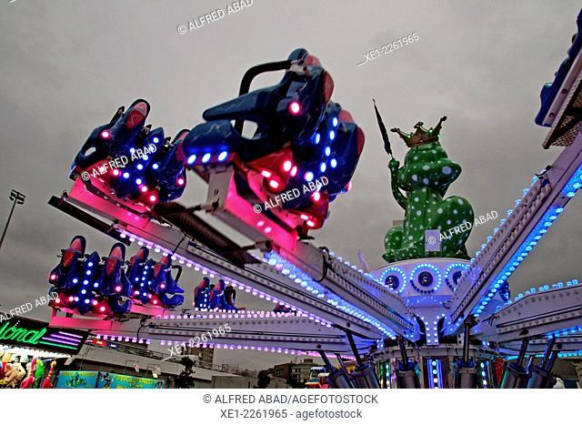 Fair attraction, Festes 2014 Sants, Barcelona, Catalonia, Spain