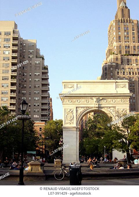 Washington Square. New York City. USA