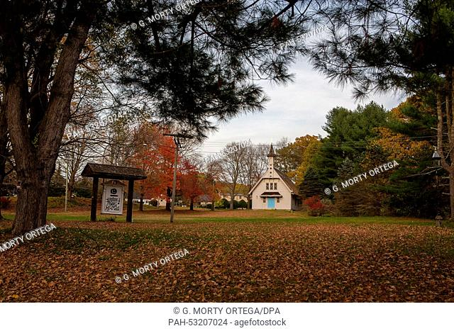 The village of Johnsonville, Connecticut, will go under the hammer 16 years after its eight historical buildings were finally abandoned, image taken Oct