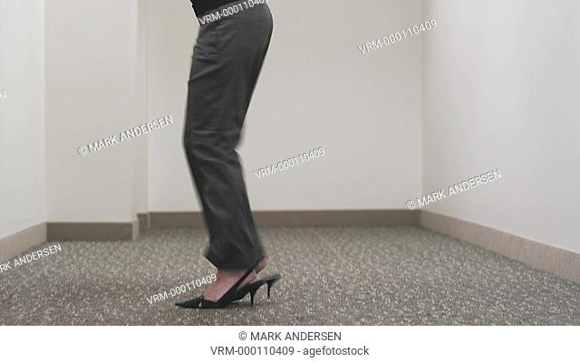 woman getting excited after a meeting