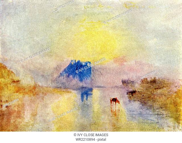 Joseph Mallord William Turner (1785-1851) was a British Romantic, landscape painter, water colorist, and printmaker. It is said that his style lay the...