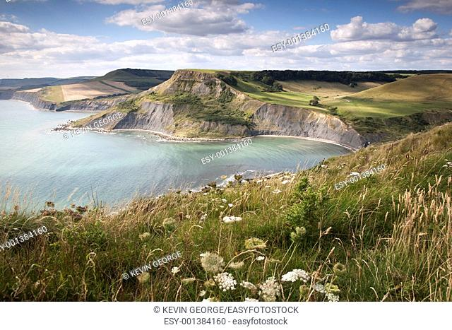 Chapmas Pool on the Jurassic Coast and Isle of Purbeck in Dorset, England, UK