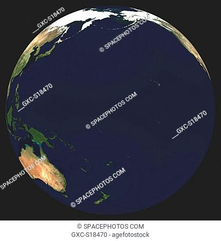 Earth in Space, one can see Asia, China, Russia, Thailand, Indonesia, the Pacific Ocean, Australia